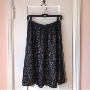 NWT Express Black Lace & Tulle Skirt